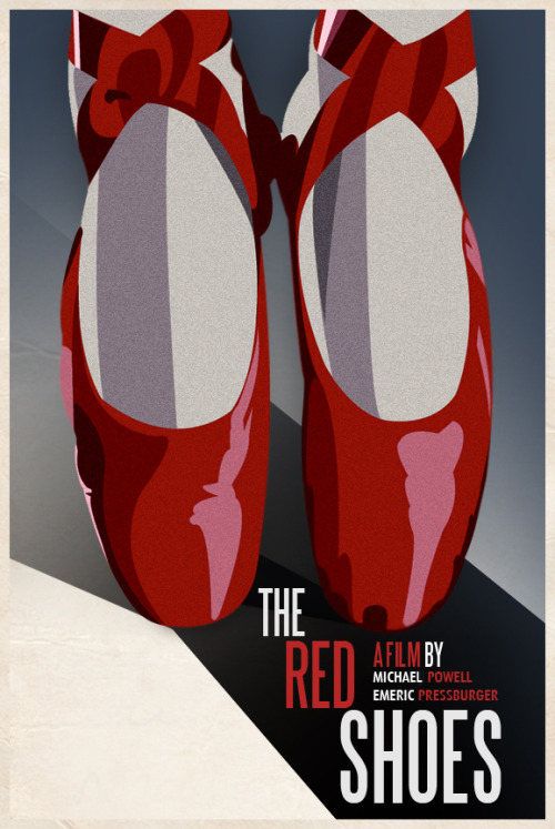 fuckyeahmovieposters:  The Red Shoes Made and submitted by Luis Fernando Cruz  A beautiful poster for a beautiful film!