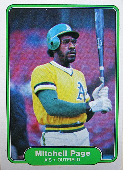 I hit .307 with 21 HR for the A's in 1977.