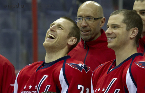 Washington Capitals team photo, Verizon Center, March 2011