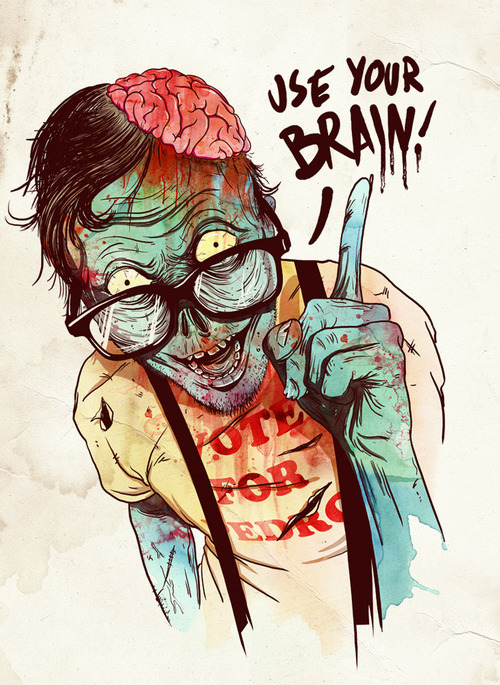 It's me as a zombie dude. LMFAO.