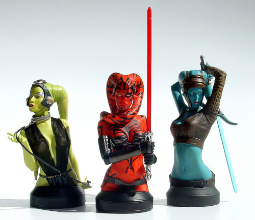 anariazarrel:  Three twi'lek mini busts by Gentle Giant Ltd - Oola, Darth Talon & Aayla Secura