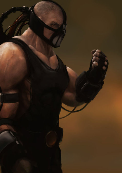 Bane from Batman. Badass, no?   Bane by Laurie Goodridge