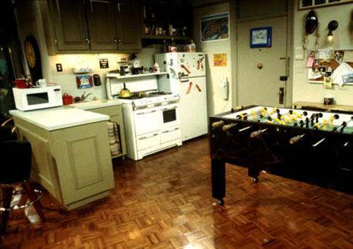 Friends: Joey and Chandler's apartment (with the foosball table)