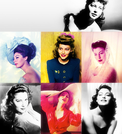 50 Fabulous Faces (In no particular order)→ Ava Gardner.  what a hottie.