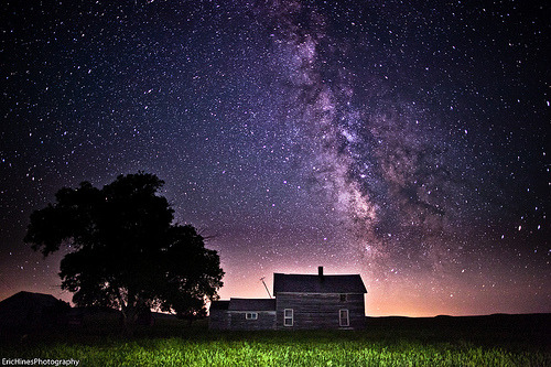 lori-rocks: Abandoned Ranch House Milky Way  by Eric Hines Photography
