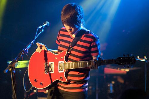 teganand-sara:  Sara Quin of Tegan and Sara (red guitar) (by fairangels)  I discovered this on someone else's Tumblr. And I decided to reblog myself! :) This is my favorite photo I've taken of Sara, and one of my favorite photos I've ever taken of a musician. Oh, and I wanted to add: you Tegan and Sara Tumblr people are just too cool :)