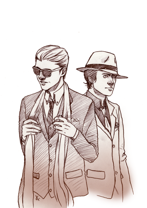 imaklainicorn asked :  36-mafia are costume-playing, what would they wear?