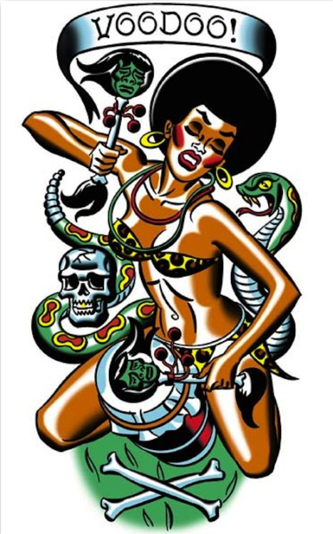 greggorysshocktheater:  Voodoo Girl by Mitch O'Connell  add it to the collection (i.e. representations of voodoo that follow the europeanized narrative of voodoo as overly sexual and scary and unintelligible)
