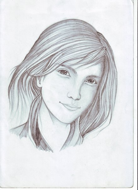 just found an old  sketch on my folder. :p .Trying to sketch Emma Watson but. fail  pencil on paper