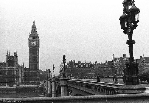 black-and-white:  London1977 (by dw*c)  My way to work :)