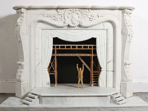 Opera Fireplace by Sebastian Errazuriz via Mocoloco
