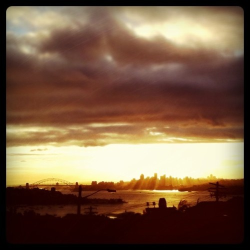 Sunset over Sydney… www.fearmanphoto.com