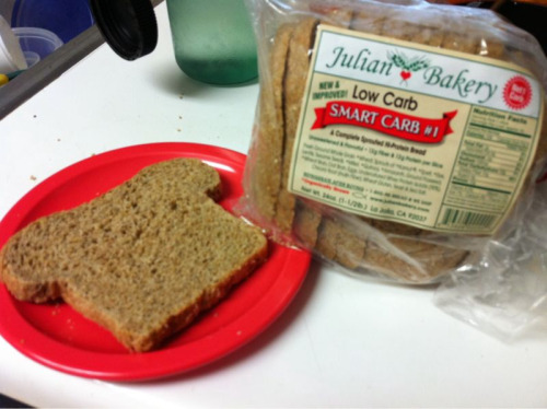 High Fiber, High Protein, LOW CARB bread! This is the only bread I'll eat and I buy it from Whole Foods. It is very filling and satisfies both fiber and protein components of a balanced meal. http://julianbakery.com/low-carb-bread/smart-carb-no-1/  Serving Size 1 slice,  Calories 109 Calories Total Fat1g,  7%Dietary    Total Carbohydrate 13g, Fiber 12g 48%, Net Carb 1g  Protein 12g Ingredients: Fresh Ground Whole Grain *Wheat, Sprouts of *Kamut, *Spelt, *Rye, Lentils, Sesame Seeds, *Millet, *Quinoa, *Amaranth, Ground Flaxseed, *Wheat Bran, Oat Bran, Eggs, Undenatured Whey Protein Isolate (90%), Chicory Root (Inulin Fiber), Wheat Gluten, Yeast & Sea Salt. *Organically Grown The nutrition facts look great, but I still need to learn more about the ingredients list. For example, the fiber comes from inulin and the protein from undenatured whey protein isolate and I don't know much about those. I will update once I do more research.