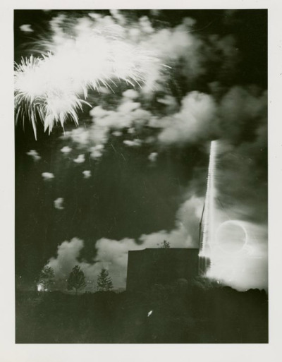 Fireworks, Trylon and Perisphere Design - New York World's Fair (1939-1940), Manuscripts and Archives Division NYPL.