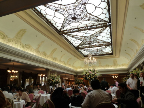 This is the dining room where we had tea time at Harrods. OMG. SO. BEAUTIFUL. It reminds me of the dining room on the Titanic (from the movie)…you know…the part where the water comes crashing in…. OH NEVER MIND LOL ENJOY.