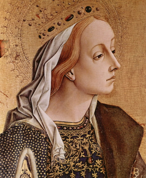 carlo crivelli gothic/early renaissance st. catherine of alexandria painting Christian