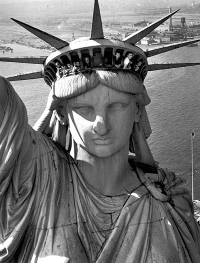 Margaret Bourke-White (1904 - 1971), Statue of Liberty, Harbor View, New York, New York 1951 Gelatin Silver Print.
