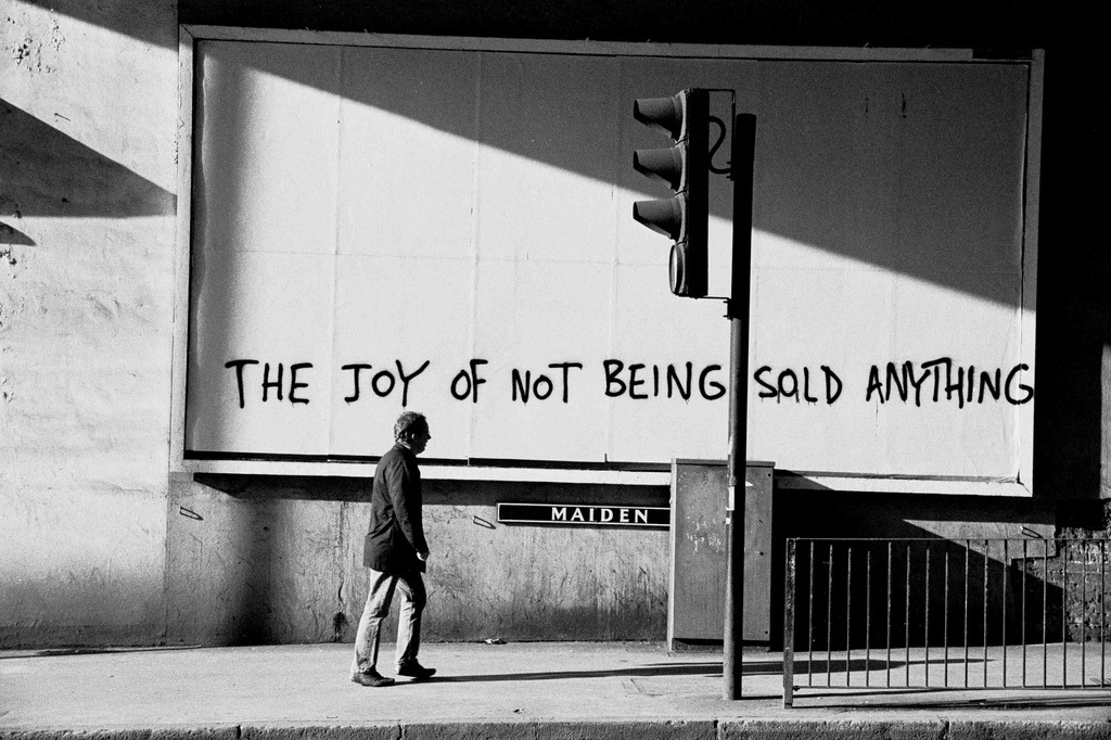 The joy of not being sold anything ( nice billboard)