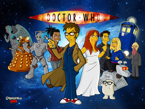 Simpsonised Doctor Who Wallpaper
