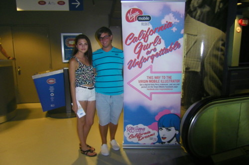 Jessica and I before the California Dreams Tour last night! :)