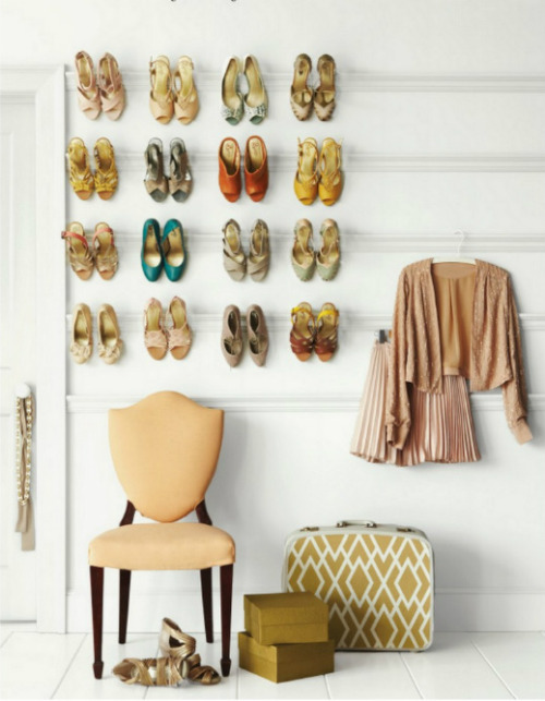 thatkindofwoman:  fraaaa:  wall shoes  Showcase your shoes.