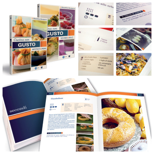 Cucina con gusto Cookbooks series layout