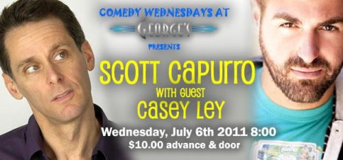 7/6. Scott Capurro and Casey Ley @ George's. 842 4th St. San Rafael. $10. 8 PM.  [For lovers of comedy in Marin County]