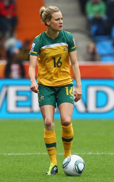 fuckyeahwomensfootball:  Lauren Colthorpe of Australia runs with the ball during the FIFA Women's World Cup 2011 Group D match between Australia and Equatorial Guinea at the Fifa Womens World Cup Stadium on July 3, 2011 in Bochum, Germany. (via Photo from Getty Images)   Australia won the match 3-2 and kept their hopes alive of advancing past the group stage.