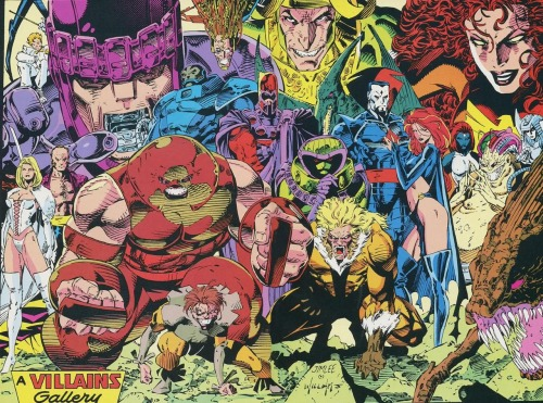 "doctorwotwot:  ""A Villains Gallery,"" by Jim Lee As seen in X-Men #1 (1991)  -"