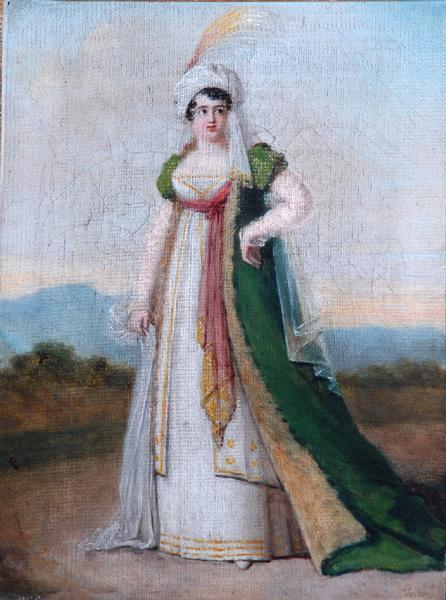 "Lady in Oriental Fancy Dress by Jean Antoine Pinchon, ca 1800-20 France, the Bowes Museum Another ""oriental"" costume that looks completely French to me."