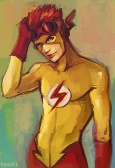 watermelonwings:  Kid Flash today! ♥ I like them YJ boys!  I could gawk at him all day here. *he's just very, very, very pretty*