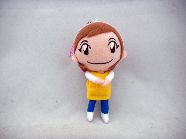Cooking Mama plush doll, free with pre-order of Cooking Mama 4 at GameStop. Something looks slightly off about the face on this doll, but it's still pretty dang cute! If you can identify what it is that's bothering me, though please do — because I can't. I've only seen this available at GameStop, so if you want a little plush companion to watch you break eggs, you'll have to pre-order the 3DS game from there. Find: Nintendo DS/3DS release dates, discounts, & more See also: More Cooking Mama posts