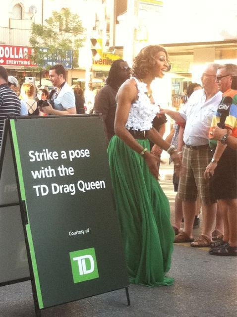 haha. I wish I were there.#TorontoPride