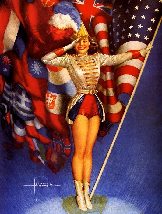 hollyhocksandtulips:  Happy 4th of July! Rolf Armstrong