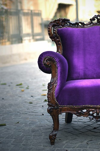 Purple Sofa.