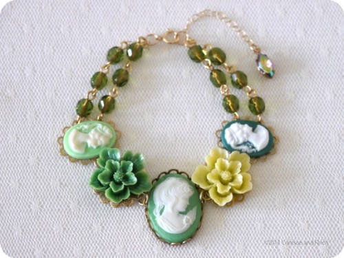 "On sale now! ""I'm just SO fresh and green"" bracelet by Crimson and Finch Check out the Hotter than July sale!"