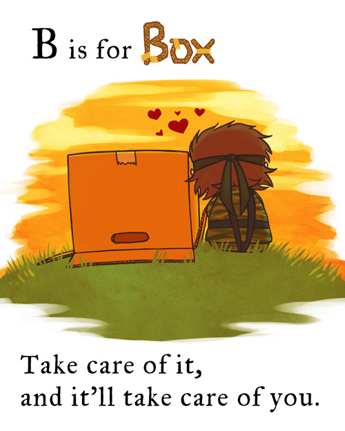 ianbrooks:  MGS: B Is For Box by feriowind