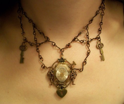 Chains and Keys - necklace made and photographed by Veronica Dowty. I'm not plugging this, but she sells here stuff here: http://www.etsy.com/shop/RoniGirlART