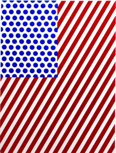 Roy Lichtenstein, American Flag 1985