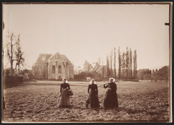 "The old abbey at Sainte Croix - Louise and Jeanne Calec with Mme. Lorgeret, holding the pitchfork, c. 1897 Abel-Marie Nicolas Boulineau (French) Photographic Print, gelatin silver printing-out paper Anonymous Gift, 2005 Enjoy this work? Come check it out in person! ""Where I was born…"": A Photograph, a Clue, and the Discovery of Abel Boulineau is up at the Art Gallery of Ontario until August 21, 2011."