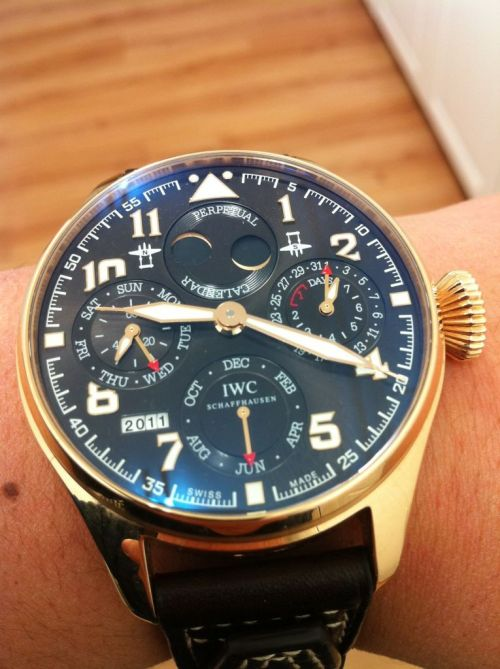 Not for everyone: The 46mm IWC Big Pilot Perpetual Calendar in Rose gold.