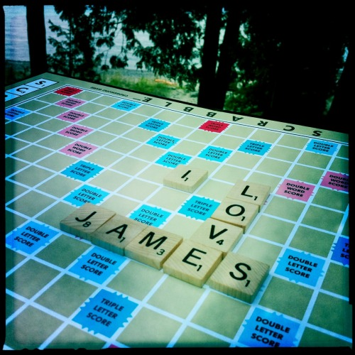Long weekend scrabble session.