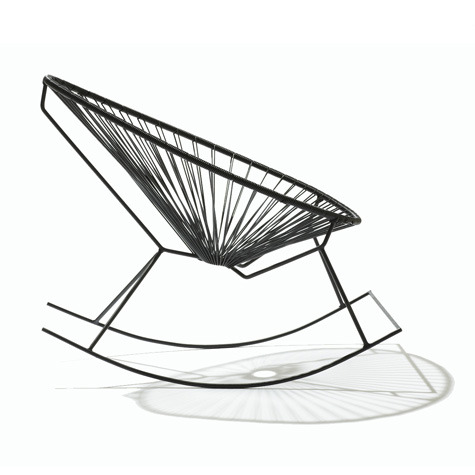 Acapulco rocking chair in black