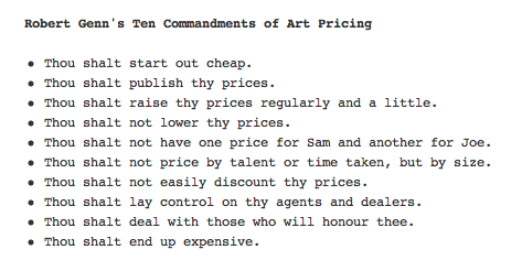 luclatulippe:  My pal Chris posts artist Robert Genn's 10 Commandments for Artists.  (via Art Marketing Blog: Resource: Robert Genn)  People Who Draw For A Living: take note.