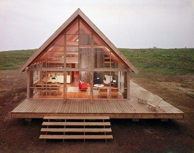 all glass a-frame house
