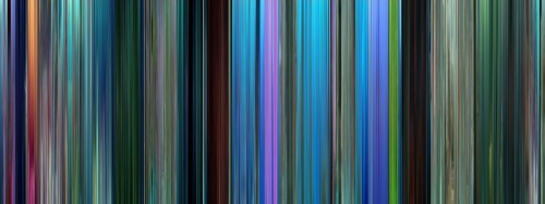 moviebarcode:  Finding Nemo (2003)⇒prints  All of the frames from the movie Finding Nemo condensed into one picture. Really awesome
