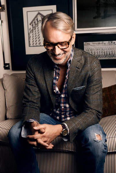 thisfits:  Style tip for wearing a sport coat with jeans: be Michael Bastian. Seriously, though, look at the shoulders on that jacket. (via MAWMB)