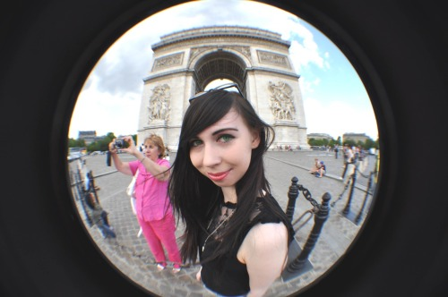 Me at the Arc De Triomphe