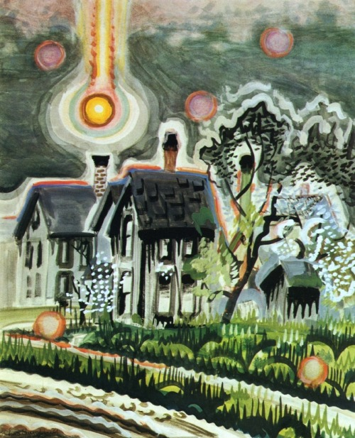 Sun Setting in a Bank of Smoke (c.1917) – Charles Burchfield