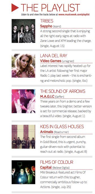 We were featured in this week's Music Week playlist!